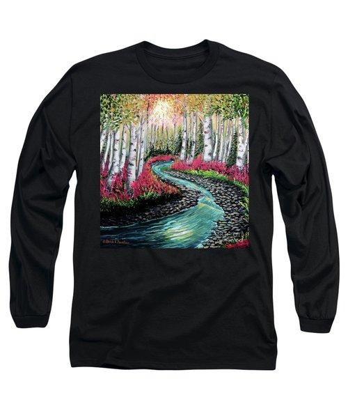 Autumn Aspen River Sunrise Long Sleeve T-Shirt