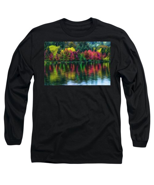 Autumn At Green Lake Seattle Long Sleeve T-Shirt by Yulia Kazansky