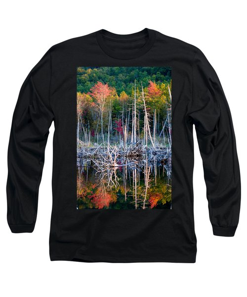 Autumn At Moosehead Bog Long Sleeve T-Shirt