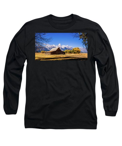Autumn At Moulton Barn Long Sleeve T-Shirt