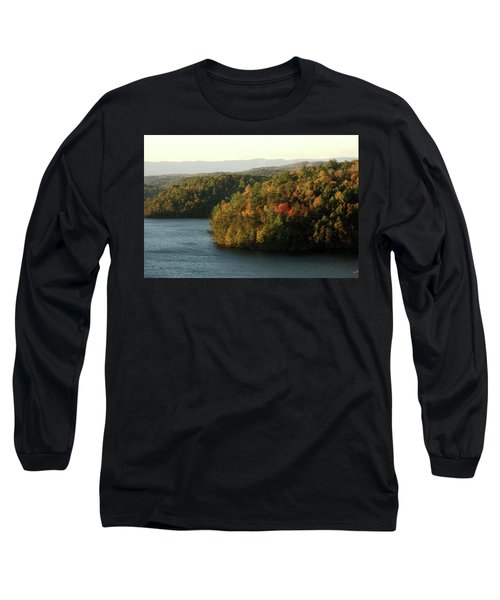 Long Sleeve T-Shirt featuring the photograph Autumn At Philpott Lake, Virginia by Emanuel Tanjala