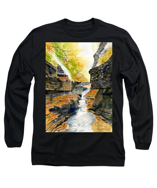 Autumn At Rainbow Falls  Long Sleeve T-Shirt