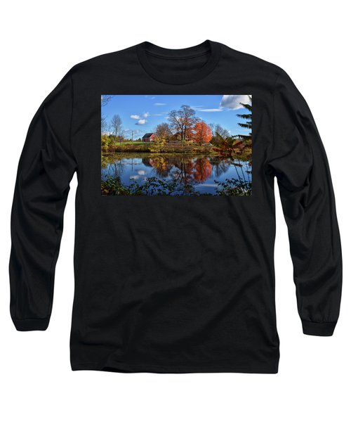 Autumn At The Farm Long Sleeve T-Shirt by Tricia Marchlik