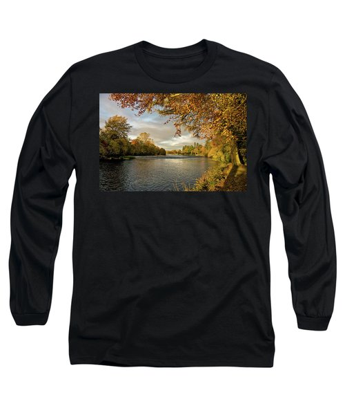 Autumn By The River Ness Long Sleeve T-Shirt by Jacqi Elmslie