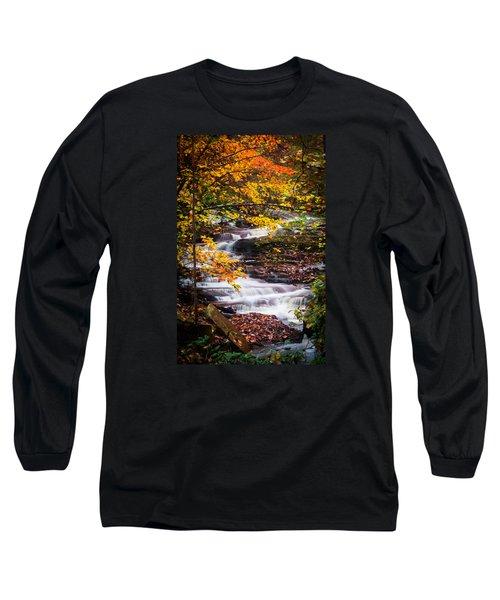 Autumn Cascade  Long Sleeve T-Shirt by Parker Cunningham