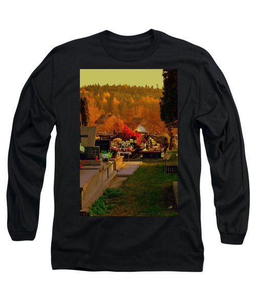 Autumn Cemetery Long Sleeve T-Shirt
