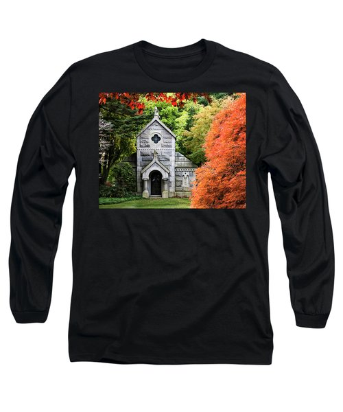 Autumn Chapel Long Sleeve T-Shirt by Betty Denise