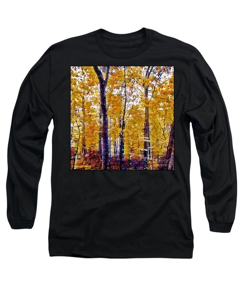 Autumn  Day In The Woods Long Sleeve T-Shirt by MaryLee Parker