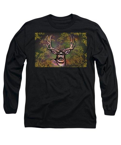 Autumn Deer Abstract Long Sleeve T-Shirt