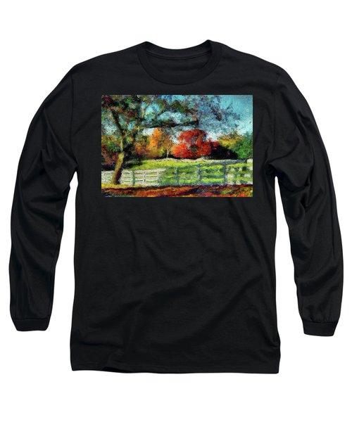 Autumn Field On The Farm Long Sleeve T-Shirt