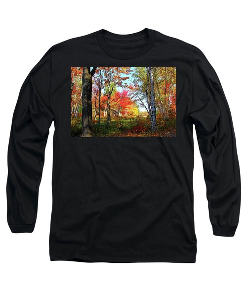 Long Sleeve T-Shirt featuring the photograph Autumn Forest by Debbie Oppermann