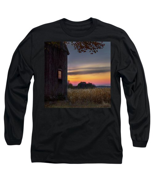 Long Sleeve T-Shirt featuring the photograph Autumn Glow Square by Bill Wakeley