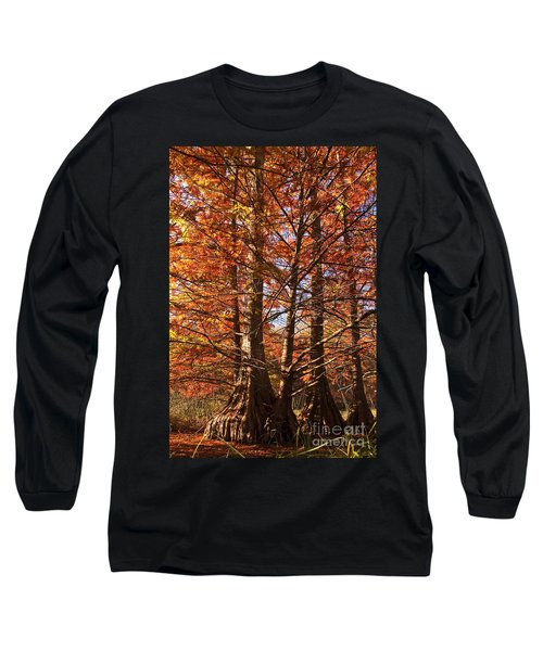 Long Sleeve T-Shirt featuring the photograph Autumn Grandeur At Lake Murray by Tamyra Ayles