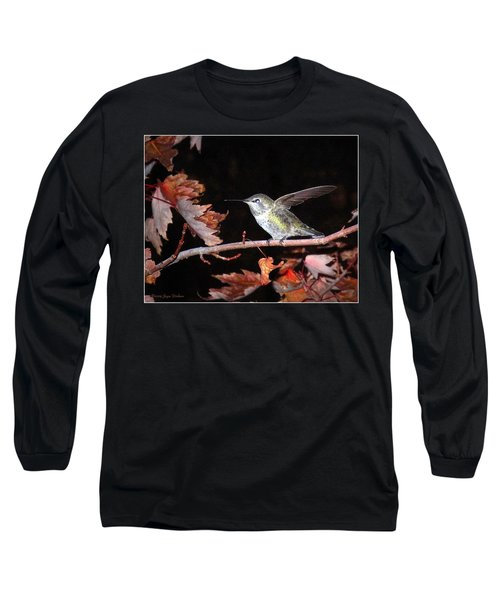 Long Sleeve T-Shirt featuring the photograph Autumn Hummer by Joyce Dickens