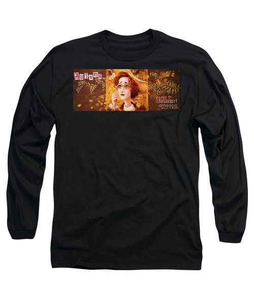 Long Sleeve T-Shirt featuring the painting Autumn by Igor Postash