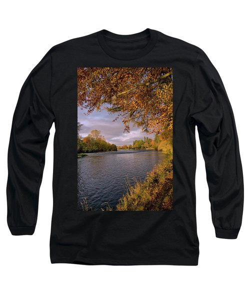 Autumn Light By The River Ness Long Sleeve T-Shirt by Jacqi Elmslie