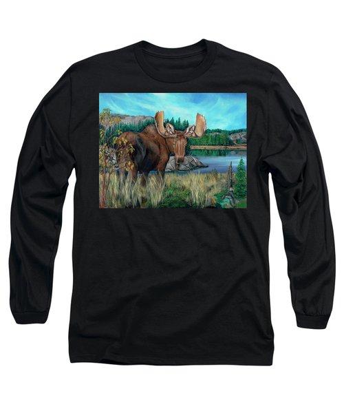Autumn Moose Long Sleeve T-Shirt