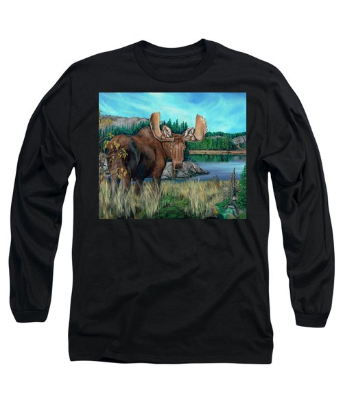 Autumn Moose Long Sleeve T-Shirt