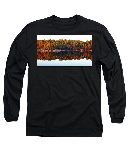 Long Sleeve T-Shirt featuring the photograph   Autumn Reflections by Debbie Oppermann