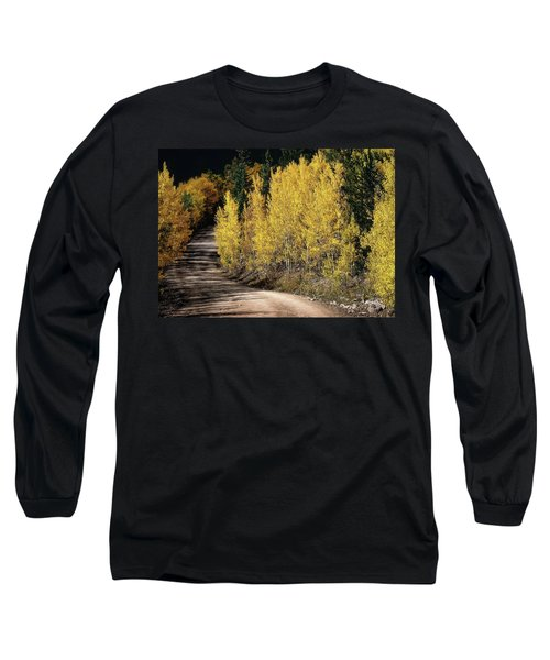 Autumn Road Long Sleeve T-Shirt by Jim Hill