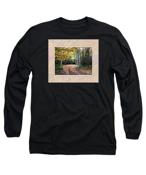 Autumn Trail Through The Birch Trees Long Sleeve T-Shirt