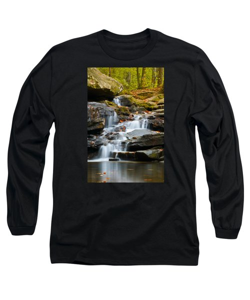 Autumn Waterfall Long Sleeve T-Shirt by Shelby  Young