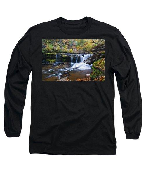 Long Sleeve T-Shirt featuring the photograph Autumn Waterfall by Steve Stuller