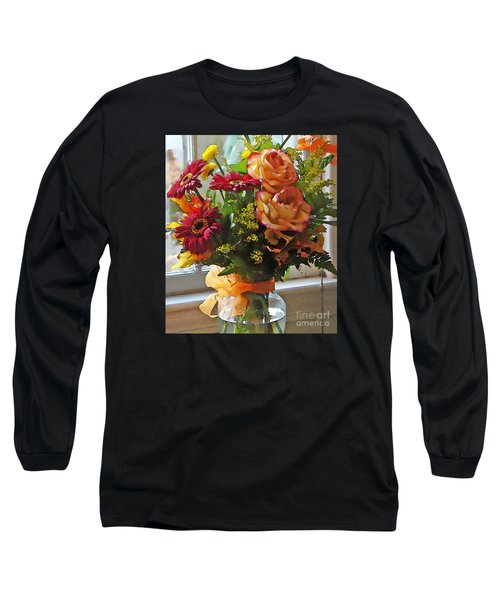 Long Sleeve T-Shirt featuring the photograph Autumn Window by Betsy Zimmerli