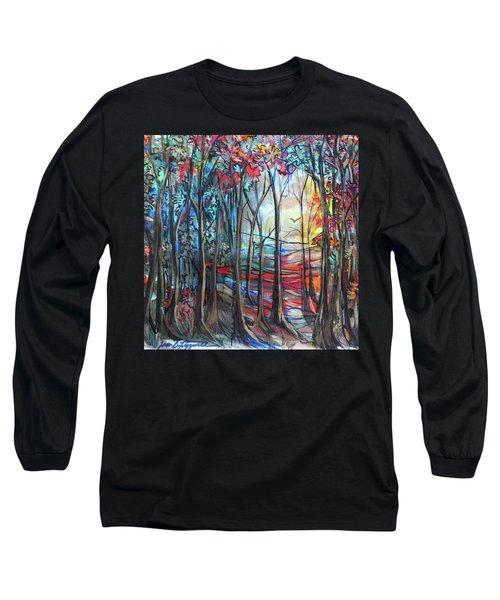Autumn Woods Sunrise Long Sleeve T-Shirt