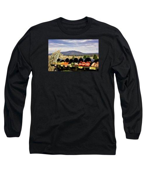 Autumnal Abundance In The Blue Ridge Mountains - Virginia Long Sleeve T-Shirt by Brendan Reals