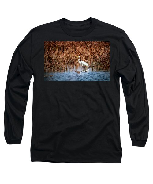 Autumn's Shore Long Sleeve T-Shirt by Ray Congrove