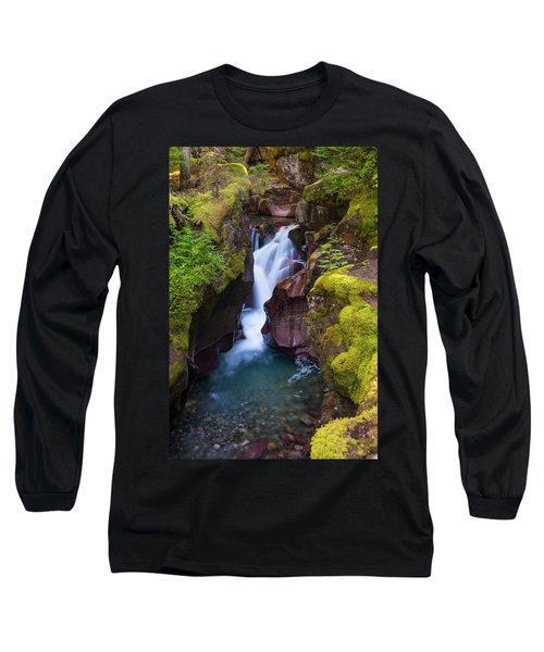 Long Sleeve T-Shirt featuring the photograph Avalanche Gorge 4 by Gary Lengyel
