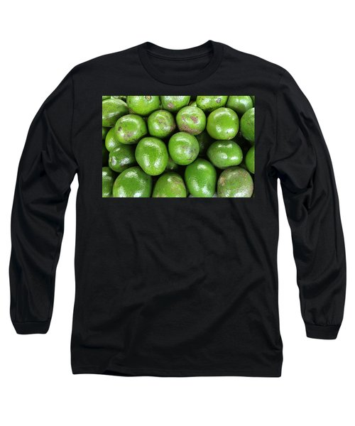 Avocados 243 Long Sleeve T-Shirt by Michael Fryd
