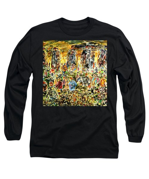 Long Sleeve T-Shirt featuring the painting Awaiting The Sun by Alfred Motzer