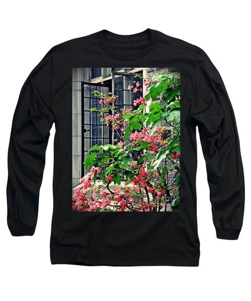 Azaleas At The Window   Long Sleeve T-Shirt by Sarah Loft