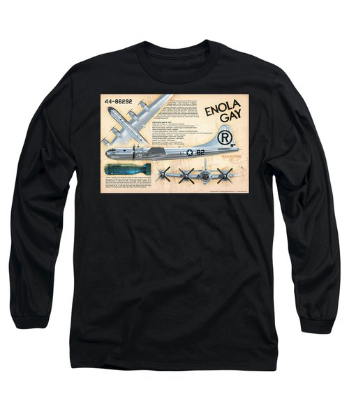 B-29 Enola Gay  Long Sleeve T-Shirt by David Collins