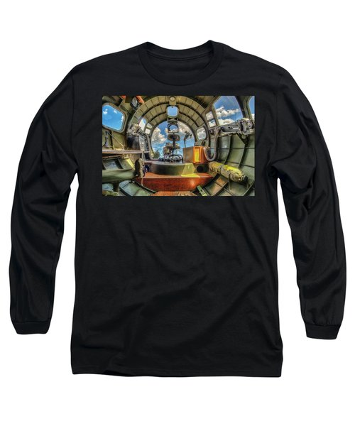 Long Sleeve T-Shirt featuring the photograph B17 Nose Section Interior by Gary Slawsky