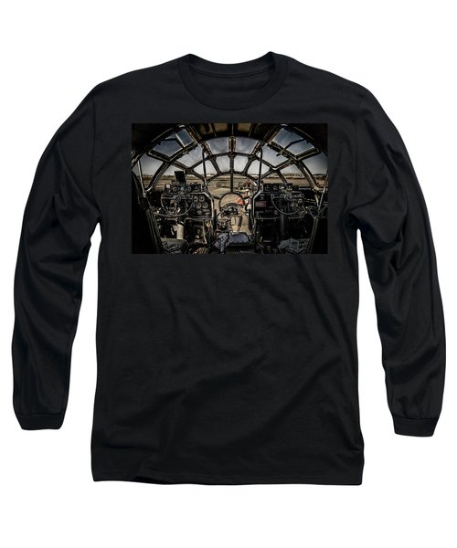 B29 Superfortress Fifi Cockpit View Long Sleeve T-Shirt