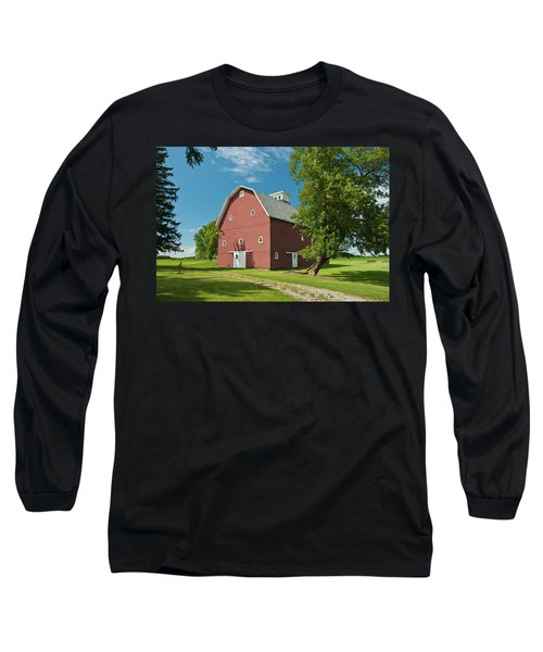 Long Sleeve T-Shirt featuring the photograph Babcock Barn 2259 by Guy Whiteley