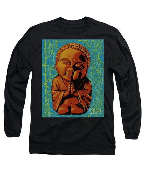 Long Sleeve T-Shirt featuring the painting Baby Buddha by Ashley Price