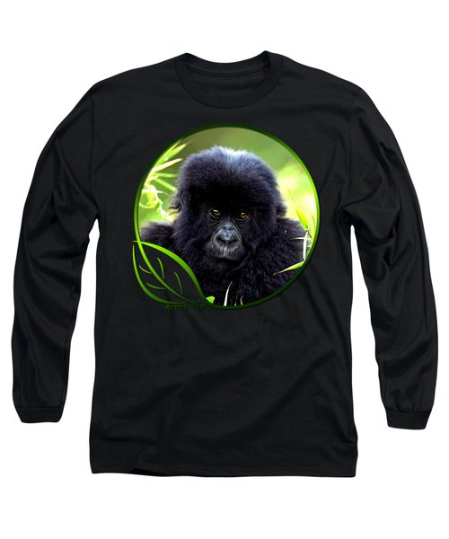 Baby Gorilla Long Sleeve T-Shirt by Dan Pagisun
