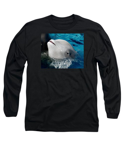 Baby Whale Long Sleeve T-Shirt by Bob Pardue