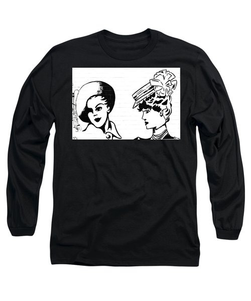 Back In Twenties Mural Long Sleeve T-Shirt