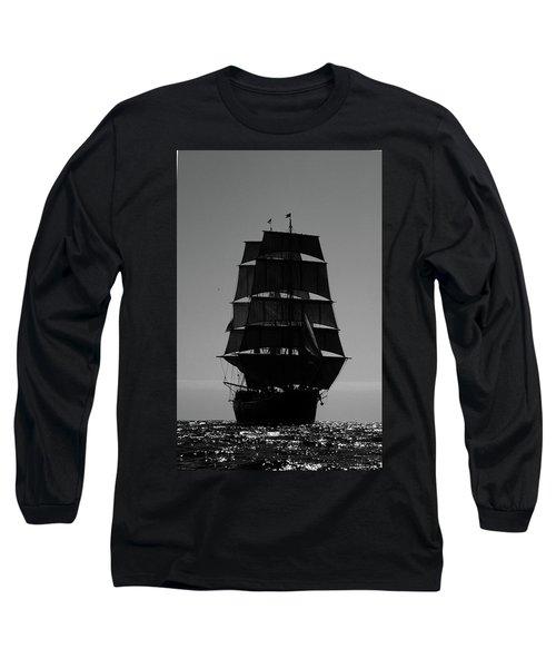 Back Lit Tall Ship Long Sleeve T-Shirt