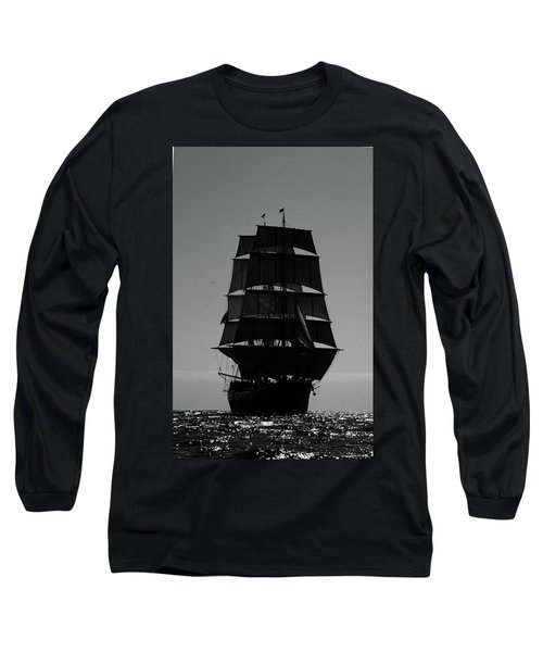 Back Lit Tall Ship Long Sleeve T-Shirt