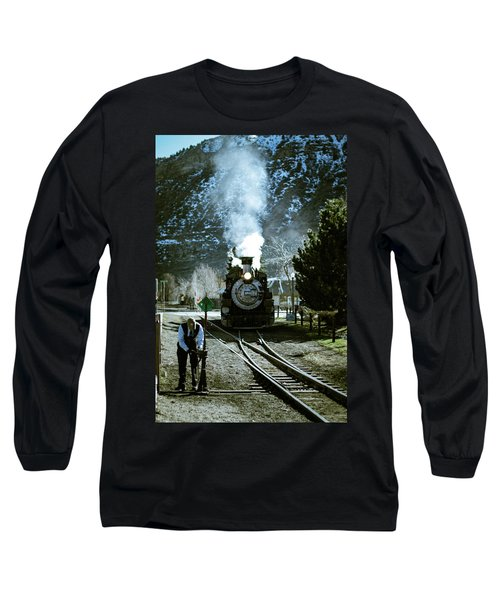 Backing Into The Station Long Sleeve T-Shirt by Jason Coward
