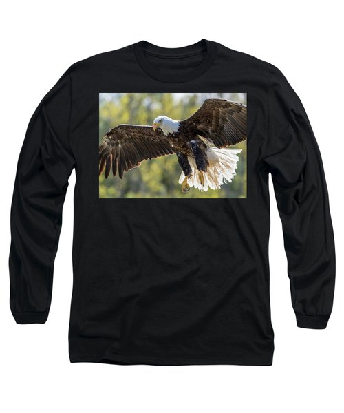 Backlit Eagle Long Sleeve T-Shirt