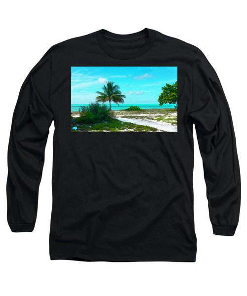 Bahama Beach Oil Long Sleeve T-Shirt