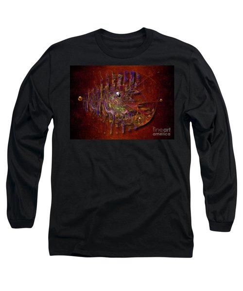 Long Sleeve T-Shirt featuring the digital art Balance Ultramodern by Alexa Szlavics