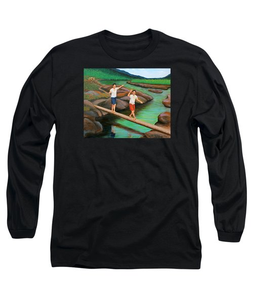 Balancing Life Through A Straight And Narrow Path Long Sleeve T-Shirt
